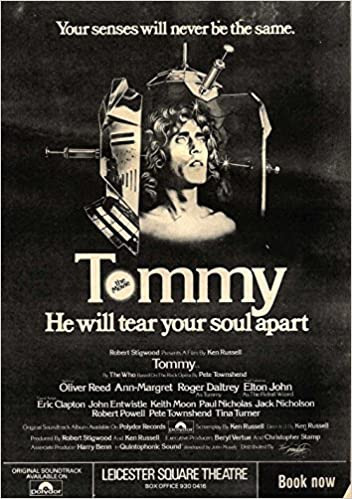 12 4 75pgn27 Movie Advert Tommy Roger Daltrey Elton John Oliver Reed Amazon Co Uk Newspaperclipping Books