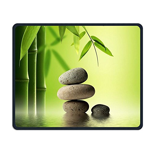 Price comparison product image Perfect Gift: Non-Slip Rubber Comfortable Mouse Pads Asian Zen Garden Stone Bamboo Zen Mouse Mat Personality Desings Gaming Mouse Pad Style 11.8 9.8 Inches
