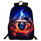 GIM School Backpack, Unisex Fashion Galaxy Pattern School Bags College Casual Laptop Rucksack for Teen Boys and Girls -F04