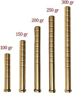 Milaem 100–300 Grain Carbone Flèche Insert en cuivre Flèche Insert pour ID 6,2 mm Flèche Tige Peut Ajouter des Poids Flèche Insert (Paquet DE 30)