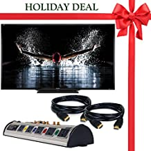 """Holiday Deal Brand New! SHARP 90"""" Inch Aquos HD Series LED Smart TV + 2 Bonus HDMI Cables + 10 Plug Home Theater Surge Protector!"""