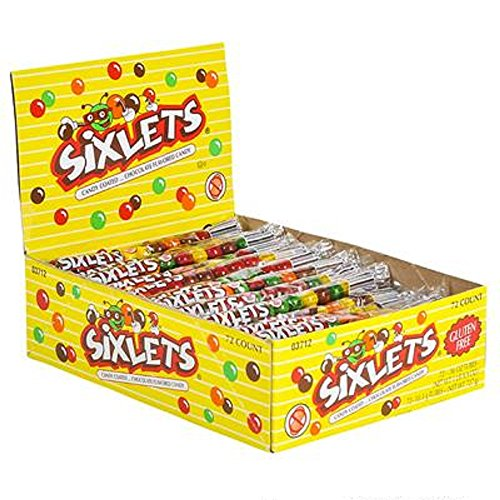 SIXLETS CANDIES. 72 0.36oz PACKETS. -