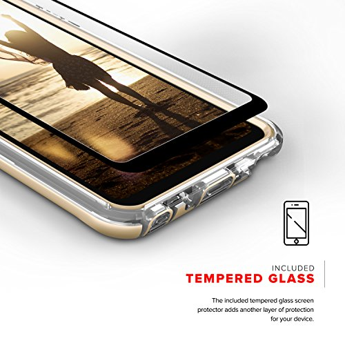 Zizo ION Series compatible with LG Stylo 4 Case Military Grade Drop Tested with Tempered Glass Screen Protector GOLD CLEAR by Zizo (Image #3)