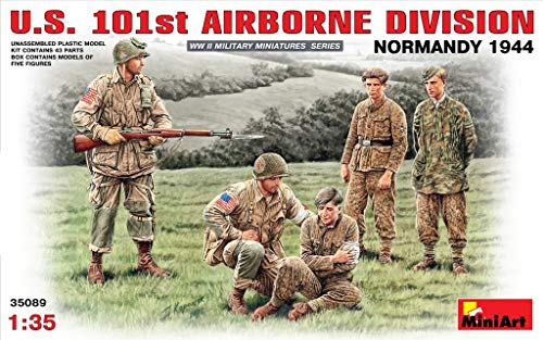- MiniArt 35089 US 101st Airborne Division - Normandy 1944, WWII Military Miniatures 1/35 Scale Model Kit