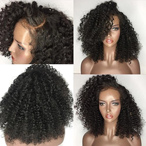 [Wigs Short Curly Glueless Lace Front Wigs L Part Heat Resistant Synthetic Hair Replacement For Women Half Hand Tied] (Milano Anime Costumes)