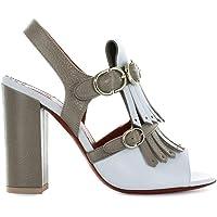 Santoni Lüks Moda Kadın WHZC56989HA2RBKME41 Mavi Deri Sandalet | Sonbahar-Kış 19