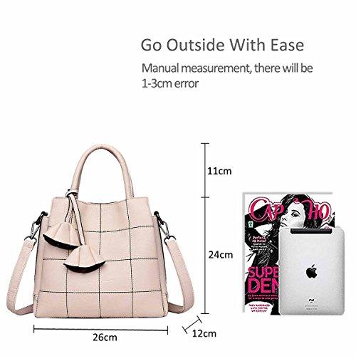 Atmosphere for Creamy Simple Shoulder Bag Female Trendy Woman a amp;DORIS Handbags Handbags Blue Female Leather Fashion Bag New NICOLE Handbag white q6AwOUytPA