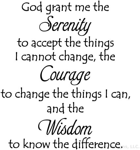 This is a graphic of Printable Serenity Prayer pertaining to transparent