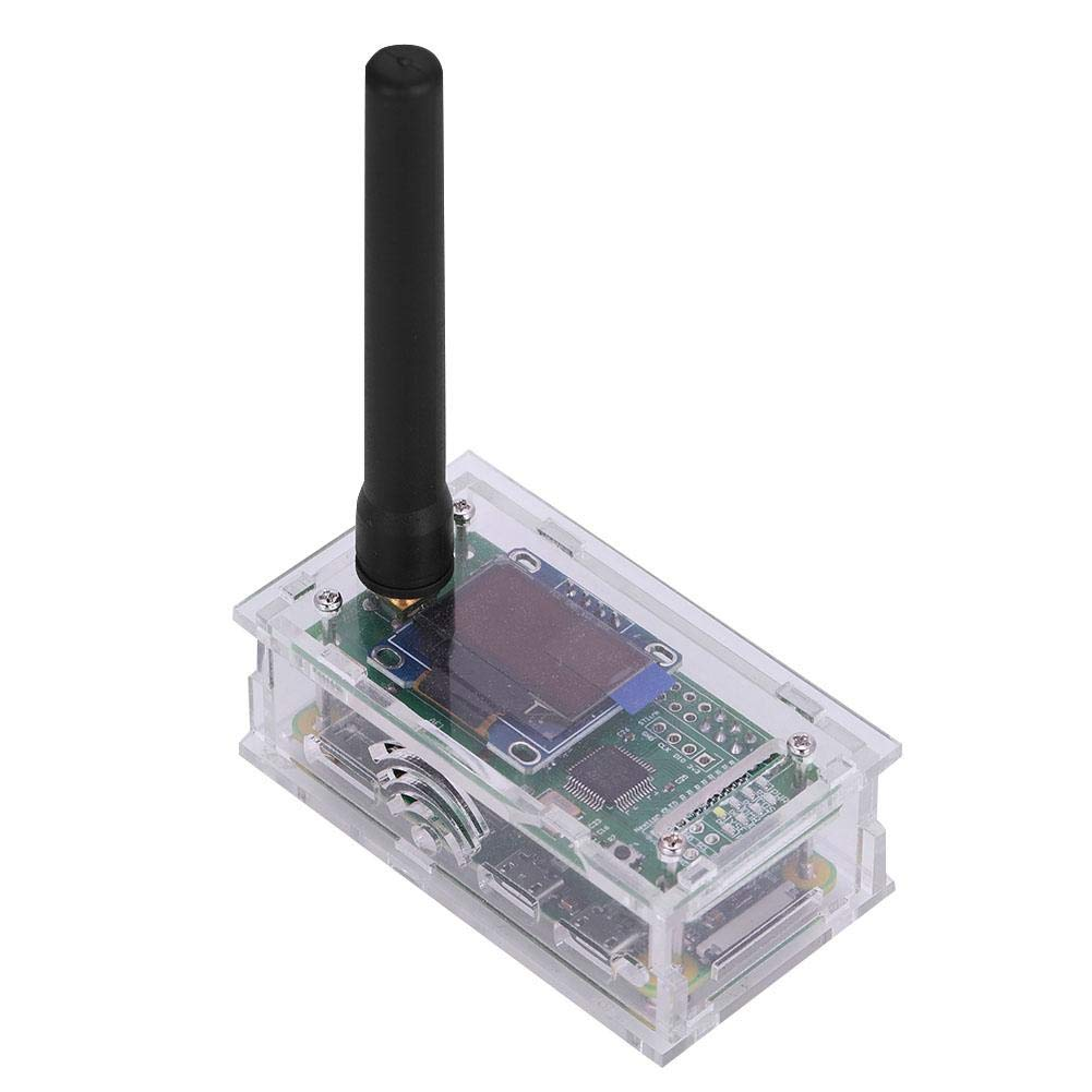 Eboxer Fully Assembled & Tested Jumbo-Spot-RTQ with Raspberry Pi Zero+MMDVM Hotspot Board + 8G TFT Card + 433Mhz Antenna + OLED Screen Support DMR, D-Star, P25 and System Fusion .(Transparent)