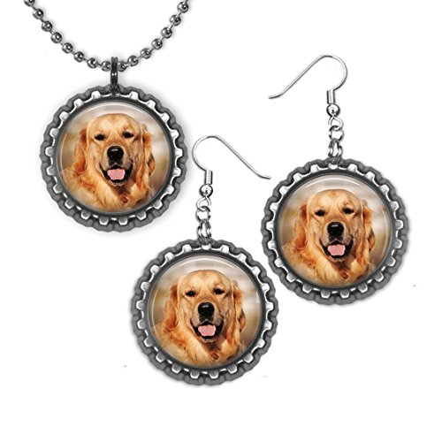 tlecap Necklace and Earrings (Retriever Bottle)