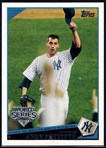 (Baseball MLB 2009 Topps New York Yankees World Series #NYY24 Andy Pettitte Yankees)