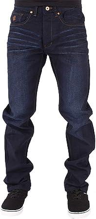Amazon Com Rocawear Pantalones Vaqueros Dobles Para Hombre Ajuste Suelto Color Negro Azul Y Gris Clothing