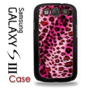 Samsung Galaxy S3 Plastic Case - Pink Fur Fauz Cheetah Pattern Print Fuzzy Looking Print