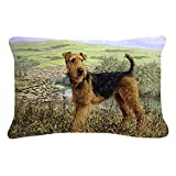 """Caroline's Treasures Airedale Terrier The Kings Country Fabric Decorative Pillow, 12"""" x 16"""", Multicolor"""