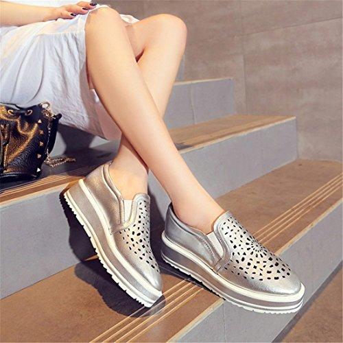 DEDE Zapatos Casual Calzado Zapatos Casuales Zapatos de Casuales Suela Sandalette Zapatos Silver daxWp41qxw