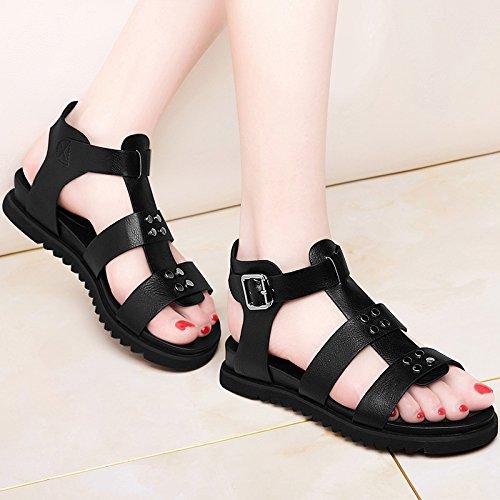KHSKX-Des Chaussures Des Sandales Et La Mode Trendsetter Femme Faible Glisser Avec Le Plat De Loisirs Thirty-seven