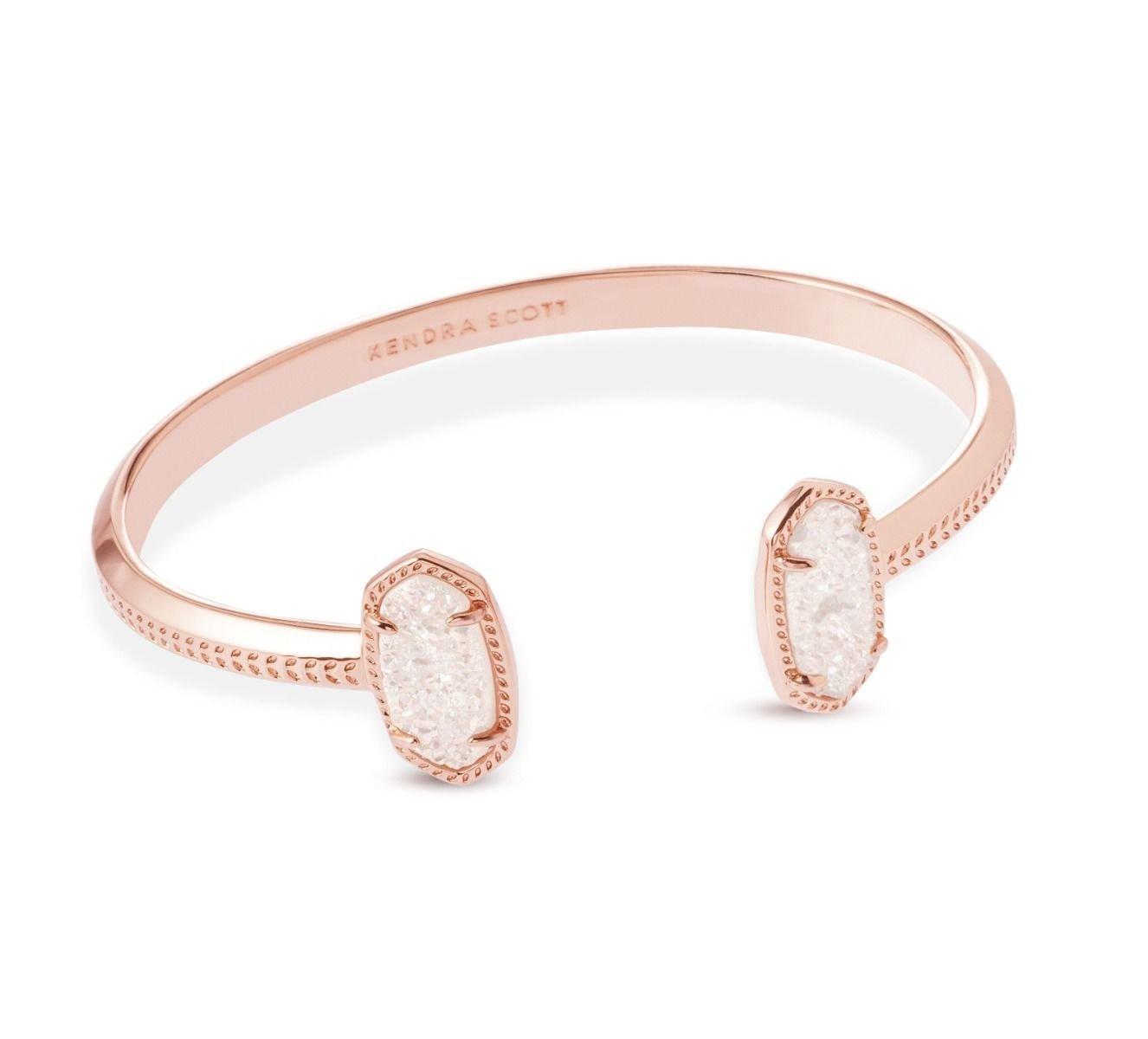 Kendra Scott Women's Elton Bracelet Rose Gold Iridescent Drusy Bracelet