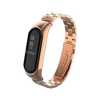 Logobeing Para Xiaomi Mi Band 3 - Metal Correa de Muñeca del Acero Inoxidable de La Moda Correa de Reloj Repuesto Pulsera