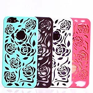 AES - Hollow Out Rose Pattern Back Case for iPhone 5/5s(Assorted Color) , Green