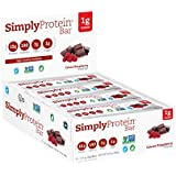 SimplyProtein Bar, Cocoa Raspberry, Pack of 12, Gluten Free, Non GMO, Vegan