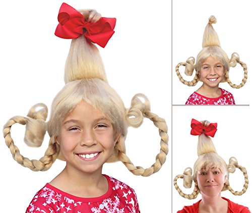 [Cindy Lou Who Costume Cindy Lou Who Wig Cindy Lou Wig Cindy Lou Costume] (Cindy Lou Who Costume For Toddler)