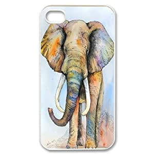 Chaap And High Quality Phone Case For Iphone 4 4S case cover -Animal Elephant Pattern-LiShuangD Store Case 8