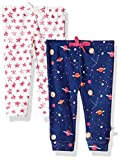 Rosie Pope Baby Girls 2 Pack Pants (More Options Available), Space/Stars, 0-3 Months