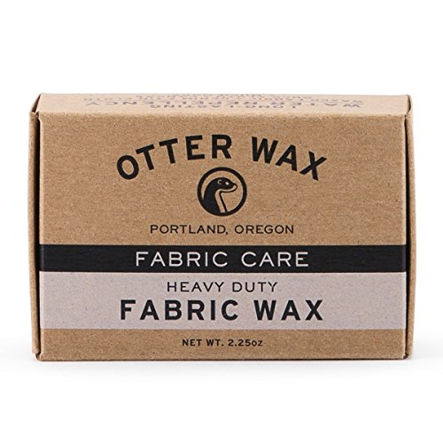 (Otter Wax Fabric & Canvas Wax | Regular Bar | All-Natural Water Repellent | Made in USA)