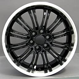 22x9 Wheel Fits GM Trucks - Cadillac Escalade Style Rim - Black w/Mach\'d Lip