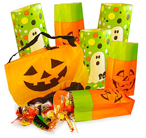 Bagged Trick or Treat Halloween Candy Survival Pack with Large 11