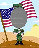 1/2 Sheet - Military Birthday - Cake Photo Frame - Edible Cake/Cupcake Topper!!!