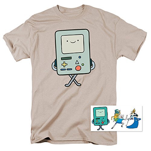 Adventure Time BMO Cartoon Network T Shirt & Exclusive Stickers (Adventure Time Shirt)