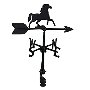 Montague Metal Products 24-Inch Weathervane with Horse Ornament