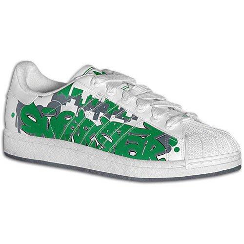 adidas superstar bianco e verde