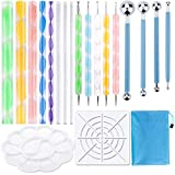 Features: Lightweight and Durable - These Creative and great tool for mandala dot art tools are super lightweight plastic that allows you to paint dots for hours without fatigue from heavy tools. No sharp edges to cut yourself. Sturdy acrylic and sta...