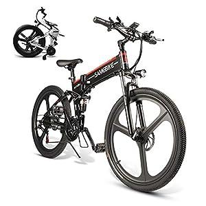 513WDm2wGTL. SS300 Bicicletta Elettrica Pieghevole 350W/500W da 26 Pollici da Citt/àTrekking/Mountain Lega di Alluminio 48V 10AH Batteria…