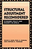 img - for Structural Adjustment Reconsidered: Economic Policy and Poverty in Africa by David E. Sahn (1999-08-13) book / textbook / text book