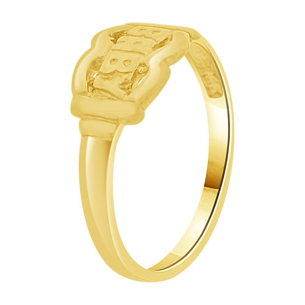 14k Yellow Gold Small Baby Child Kid Ring Filigree Design