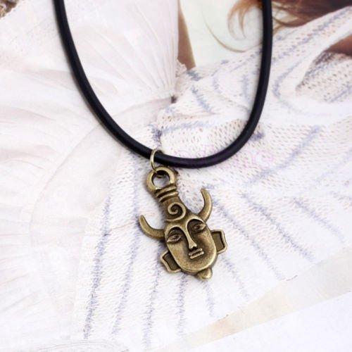 CuteEdison Double Sided Mask Amulet Pendant Necklace Costume Jewellery Unisex KTHNBvBbyp