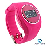 MX-LOCareNT GPS Personal Safety Watch for Children and Adults, Two way Communication, Voice to Text to Voice, SOS Alert, Pink