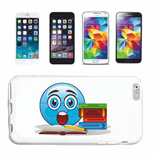 """cas de téléphone Huawei P9 """"BLEU SMILEY LES LIVRES READ """"sourire de EMOTICON de SMILEYS SMILIES ANDROID IPHONE EMOTICONS IOS APP"""" Hard Case Cover Téléphone Covers Smart Cover pour Apple iPhone en blan"""