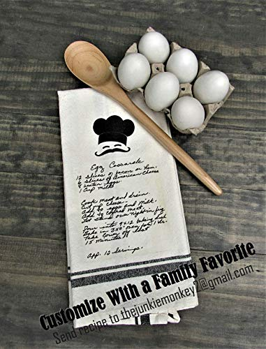 (Custom Kitchen Tea Towel, Personalized Kitchen Towel, Famiy Recipe Tea Towel, Wedding Gift, Gift For Family)