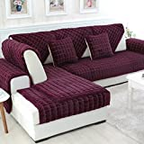 Combination Solid Warm Plush Seat Sofa Covers for Living Room Sofa Slipcover Furniture Couch Cover(Pillow Case 18 X 18 Inch)