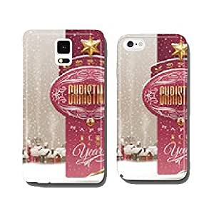 Christmas greetings banner winter landscape with village cell phone cover case iPhone6 Plus