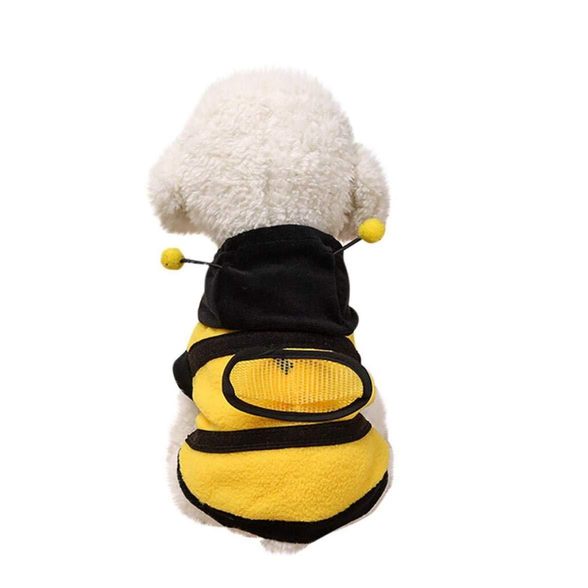 Onsinic 1x S Pet Dog Carino Bumble Bee Amabili Ali Cane Domestico del Gatto del Cane Vestiti Coat