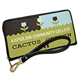 Wallet Clutch US Gardens Kapiolani Community College Cactus Garden - HI with Removable Wristlet Strap Neonblond