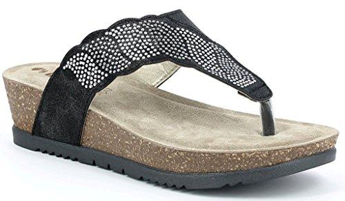 INBLU , Damen Sandalen schwarz schwarz 40
