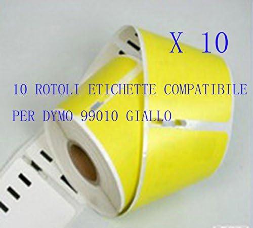 450 Duo 400 Twin Turbo 400 10 Rotoli Etichette Compatibili per DYMO 99010 Giallo 89 X 28mm LABELWRITER 310 450 Series 400 Turbo 400 Duo 330 Turbo 450 330 Series 320 450 Turb 400 Twin 330