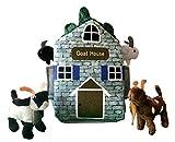 ADORE 12'' Goat Farm House Stuffed Animal Plush Playset