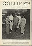 Field Marshal Marquis Oyama Family Russo Japan War 1904 antique historic print